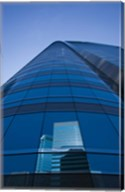Reflection of buildings on a stock exchange building, Exchange Square, Central District, Hong Kong Island, Hong Kong Fine-Art Print