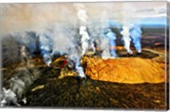 Steam erupting from a volcano, Kilauea, Kauai, Hawaii Fine-Art Print