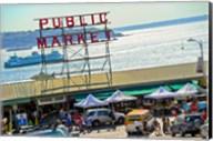 People in a public market, Pike Place Market, Seattle, Washington State, USA Fine-Art Print