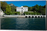 Villa at the waterfront, Villa Carlotta, Tremezzo, Lake Como, Lombardy, Italy Fine-Art Print