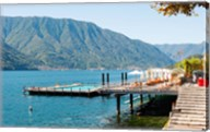 Sundeck and floating pool at Grand Hotel, Tremezzo, Lake Como, Lombardy, Italy Fine-Art Print