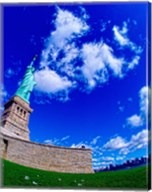 Low angle view of a statue, Statue Of Liberty, Manhattan, Liberty Island, New York City, New York State, USA Fine-Art Print
