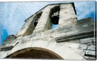 Low angle view of a bell tower on a bridge, Pont Saint-Benezet, Rhone River, Provence-Alpes-Cote d'Azur, France Fine-Art Print