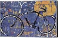Blue Graffiti Bike Fine-Art Print