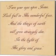 Turn Your Eyes Upon Jesus Fine-Art Print