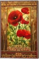 Poppy Field I In Frame Fine-Art Print