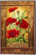 Poppy Field II In Frame Fine-Art Print