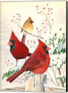 Cardinals In Winter Fine-Art Print