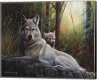 Recumbent Wolves Fine-Art Print