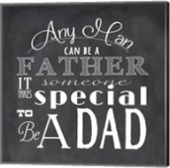 To Be A Dad - square Fine-Art Print