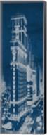 Times Square Postcard Blueprint Panel Fine-Art Print
