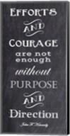 Efforts & Courage Quote Fine-Art Print