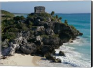 Ruins on a cliff, El Castillo Fine-Art Print