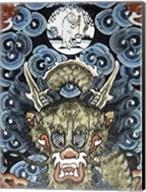Dragon and White Rabbit Making Elixir of Immortality Fine-Art Print