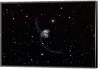 Antennae (NGC 4038 and 4039), interacting pair of galaxies in Corvus Fine-Art Print