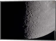 South terminator of 7 day moon Fine-Art Print