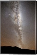 The Milky Way in vertical position rising from the horizon Fine-Art Print