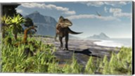 An Acrocanthosaurus roams an Early Cretaceous North America Fine-Art Print