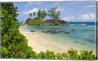 Coastal view on Mahe Island, Seychelles Fine-Art Print