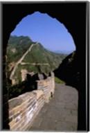 Great Wall of China Viewed through Doorway, Beijing, China Fine-Art Print