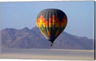 Aerial view of Hot air balloon over Namib Desert, Sesriem, Namibia Fine-Art Print