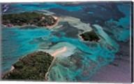 Aerial View of Ste Anne Marine National Park, Seychelles Fine-Art Print