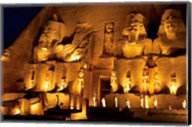 Egypt, Abu Simbel, Greater Temple of Ramses II, Columns Fine-Art Print