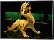 China, Shanghai, Bixie Mythical Beast Statue Fine-Art Print