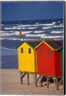 Yellow and Red Bathing Boxes, South Africa Fine-Art Print