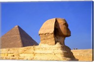 Close-up of the Sphinx and Pyramids of Giza, Egypt Fine-Art Print