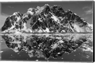 Antarctica, Mountain peaks reflected in the Lemaire Channel. Fine-Art Print