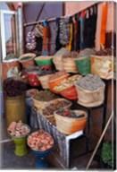 Africa, Morocco, Marrakech. Spices of the mellah of Marrakech. Fine-Art Print