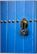 Blue Door of Kasbah of Oudaya, UNESCO World Heritage Site, Rabat, Morocco, Africa Fine-Art Print