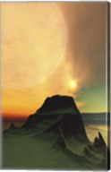 Cosmic landscape on another world Fine-Art Print