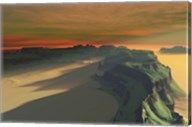 The sun sets on this desert landscape Fine-Art Print