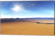A river flows through this desert wilderness area Fine-Art Print