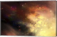 A beautiful nebula out in the cosmos with many stars and clouds Fine-Art Print