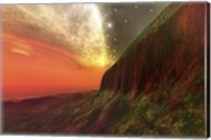 Cosmic seascape on another planet Fine-Art Print