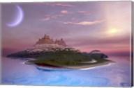 Fantasy seascape of an island Fine-Art Print