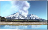 Mount Saint Helens simmers after the volcanic eruption Fine-Art Print