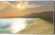 Sunset on a quiet peaceful beach with gorgeous water Fine-Art Print