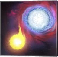A binary star system Fine-Art Print