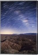 Milky Way above the Borrego Badlands, California Fine-Art Print
