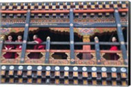 Monks in the Kichu Lhakhang Dzong, Paro, Bhutan Fine-Art Print
