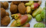 Mangos and coconuts at the market on Mahe Island Fine-Art Print
