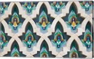 MOROCCO, Hassan II Mosque, Islamic Tile Detail Fine-Art Print