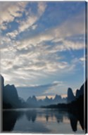 Li River and Karst Peaks at sunrise, China Fine-Art Print