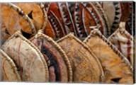 Kenya. Handmade Masai shields at a roadside market Fine-Art Print