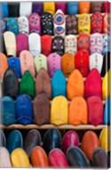 Leather slippers, Medina Fes, Middle Atlas, Morocco Fine-Art Print