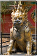 Qing-era guardian lion, Forbidden City, Beijing, China Fine-Art Print